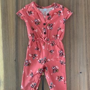 Coral Toddler Jumpsuit